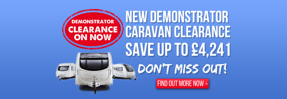 Great deals on 2015 Demonstrator Caravans